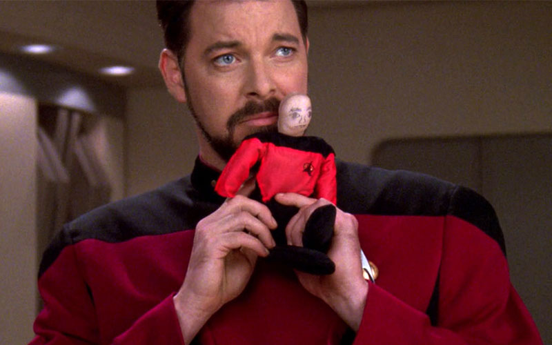 Riker celebrating Captain Picard Day