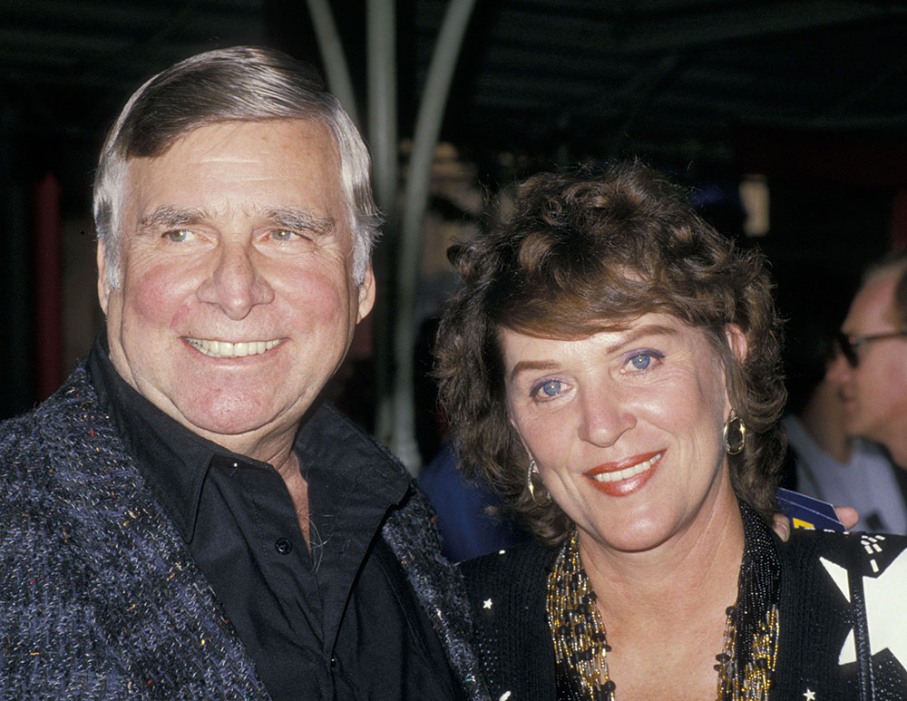 Gene with his wife Majel Barrett-Roddenberry