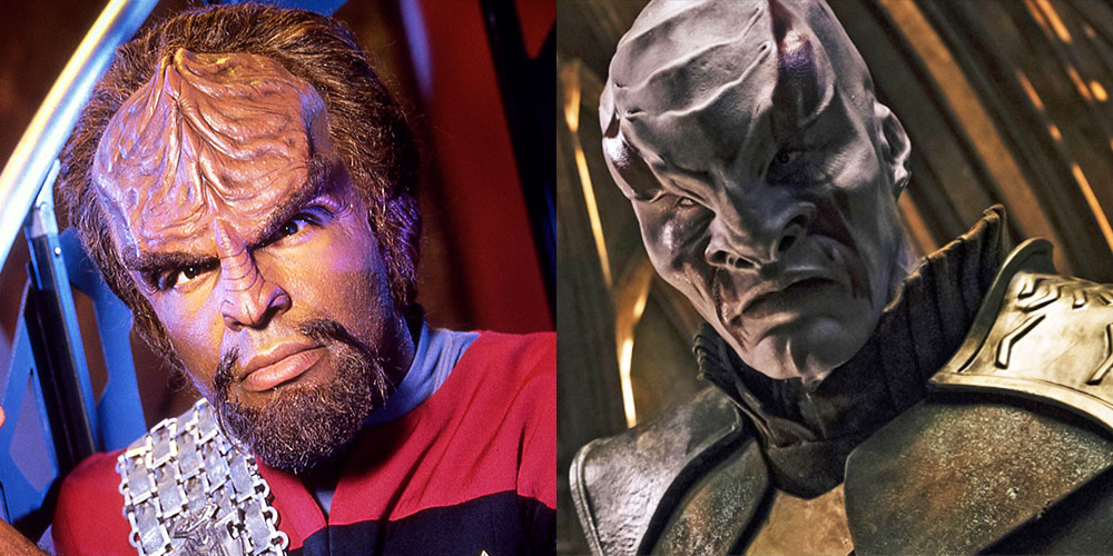 Klingon comparison: Dorn as Worf in Deep Space Nine and Kenneth Mitchel as Kol in Discovery