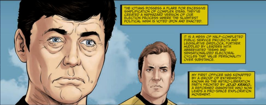 Art from Star Trek: Year Five #4