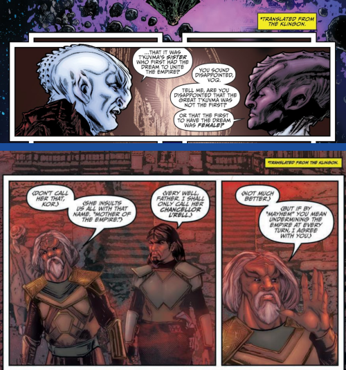 Another example of the lettering choices between Discovery: Aftermath #1 and Discovery: Light of Kahless