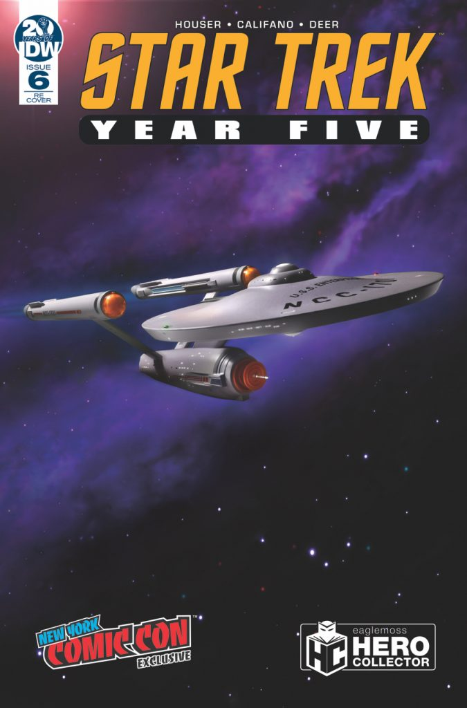 NYCC 2019 Limited Edition variant cover for STAR TREK: YEAR FIVE #6