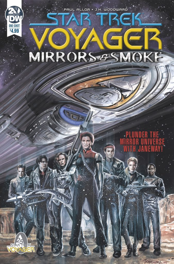 STAR TREK VOYAGER: MIRRORS AND SMOKE regular cover by J K Woodward