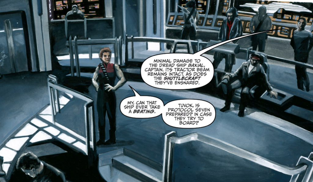 Art from STAR TREK VOYAGER: MIRRORS AND SMOKE #1