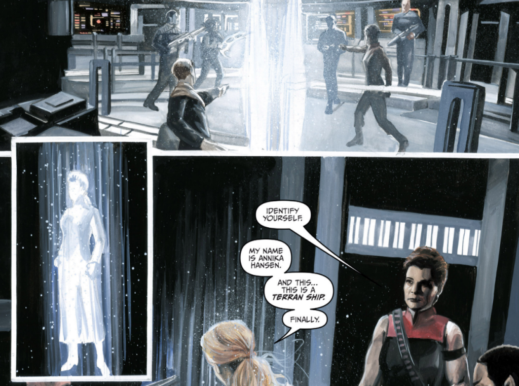 Art from STAR TREK VOYAGER: MIRRORS & SMOKE #1