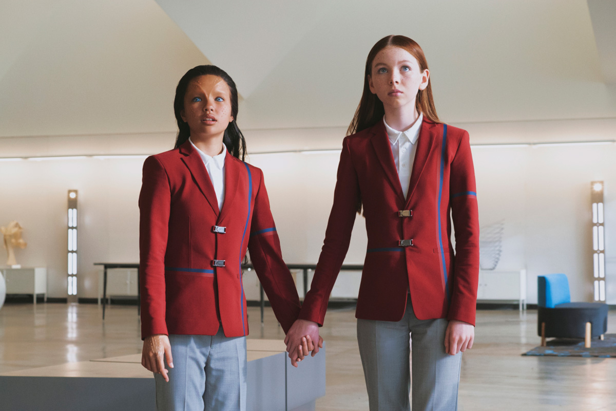 "Ilamaria Ebrahim and Sadie Munrie as Kima and Lil in Star Trek: Short Treks ""Children of Mars"""